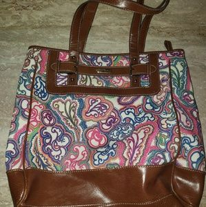 Women's Nine & Co Paisley Printed Purse Tote